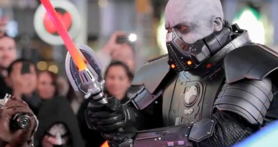Der Freeze Mob am Times Square zum Start von SWTOR. (3)