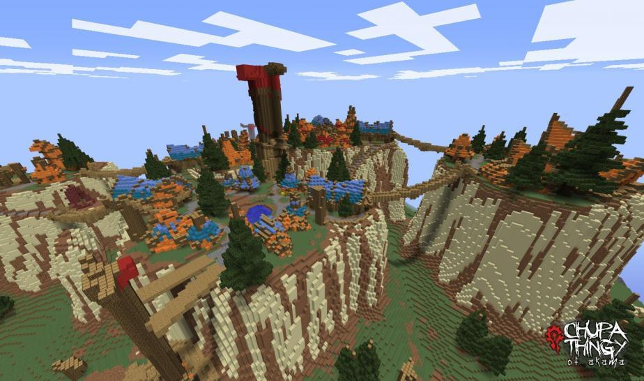 Zu wow komplett kalimdor in minecraft nachgebaut minecraft fan will