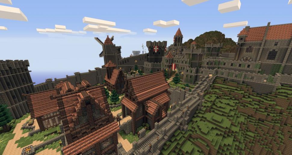 Minecraft SkyrimHauptstadt Einsamkeit In Minecraft Nachgebaut - Minecraft hauser klonen