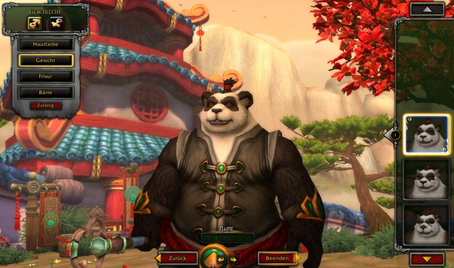 Pandaren-Gesichter aus WoW: Mists of Pandaria in ihrer vollen Pracht.