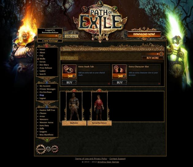 Path of Exile im Free2Play-Test: Sehr gutes Hack&Slay-RPG. (1)