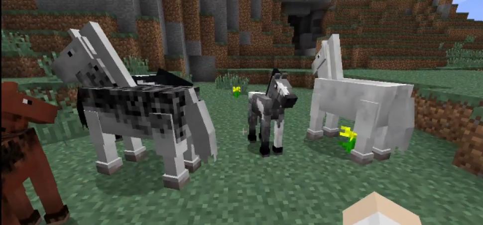 Minecraft Patch Für Das SandboxSpiel Bringt ReitFunktion Und - Minecraft pferde spiele