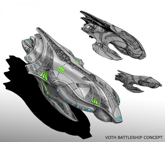 Star Trek Online Hintergrundinformationen Zu Den Voth Raumschiffen