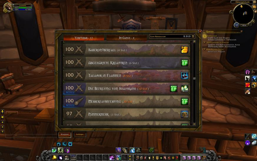 WoW: Warlords of Draenor - Anpassungen an Garnisionsmissionen (1)