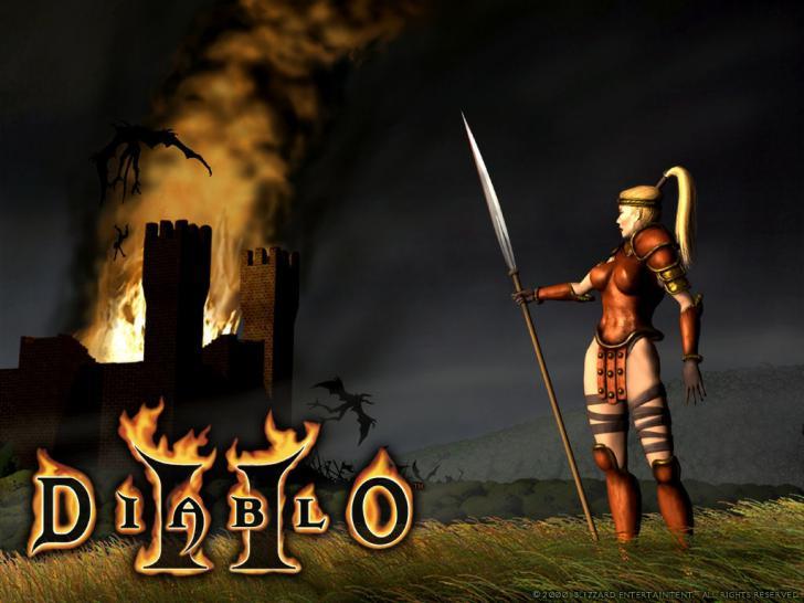Diablo 2 Wallpaper: Amazone in Akt 1