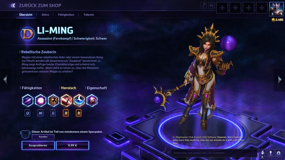 Heroes of the Storm: Diablo 3-Zauberin Li-Ming