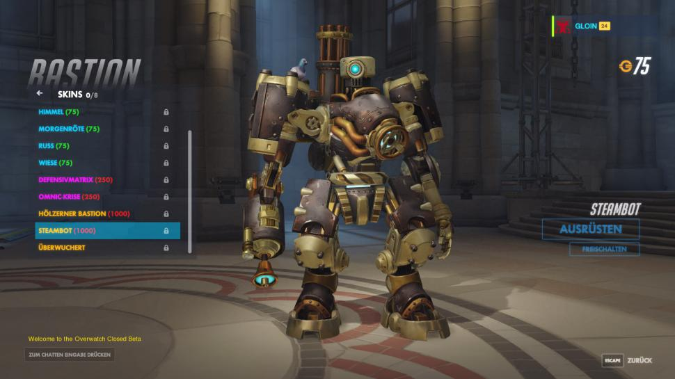Overwatch: Der neue Heldenskin Steambot Bastion.