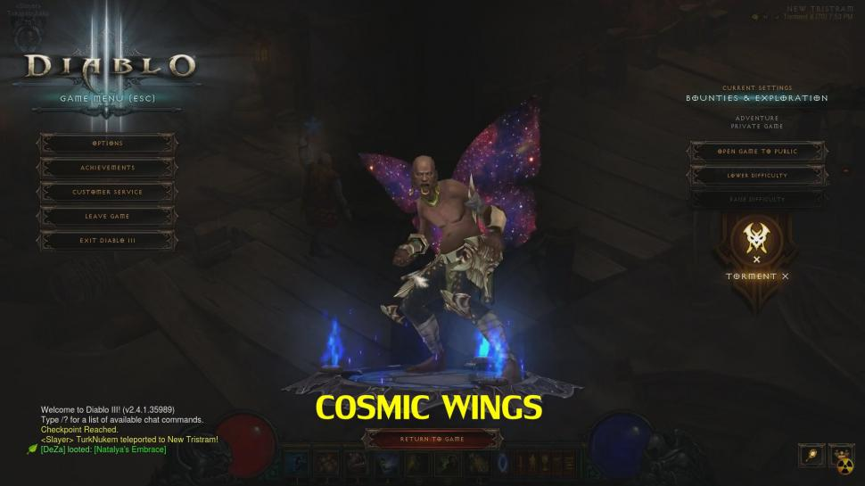 Diablo 3 Patch 2.4.1 - Neue Flügel: Cosmic Wings
