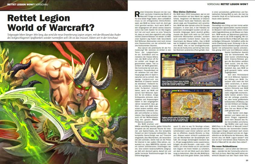 buffed-Magazin 05-06/2016 mit World of Warcraft: Legion