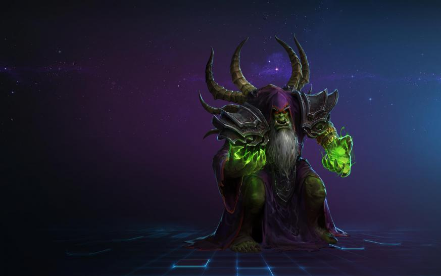 Heroes of the Storm: Gul'dan Artwork (1)