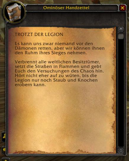 WoW Legion Pre-Event: Handzettel (1)
