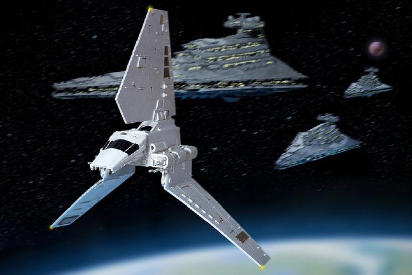 Star Wars Lambda Shuttle Aus Mehr Als 6 000 Lego Steinen