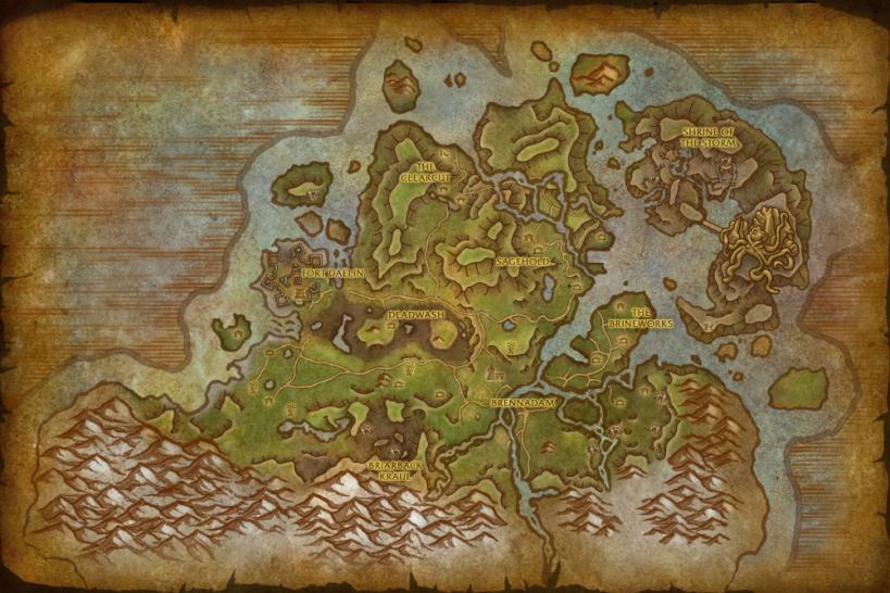 WoW: Battle for Azeroth - Karten aller neuen Gebiete in der finalen ...