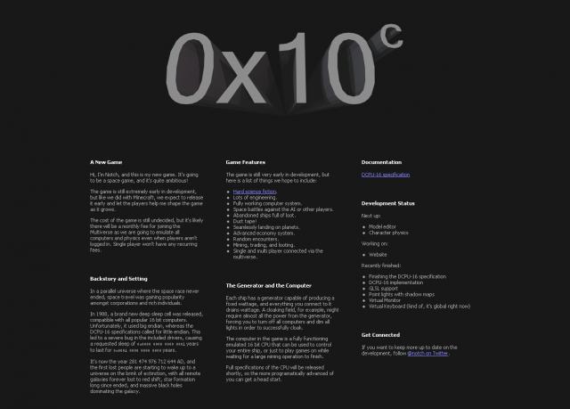 0x10c: Erste Screenshots zu Notchs Weltraumspiel - ein ...