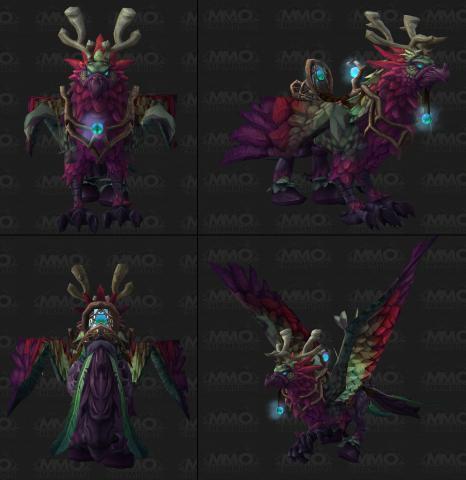 wow neue hippogryphen in legion das druiden mount mit neuen farben