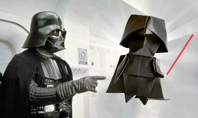 star wars darth vader als origami papierkunst zum nachbasteln mit video. Black Bedroom Furniture Sets. Home Design Ideas