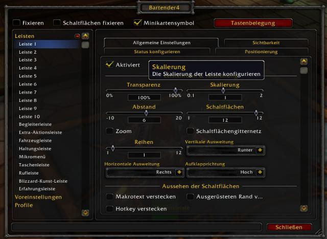 WoW: Addons - Bartender (Battle for Azeroth 8.0)