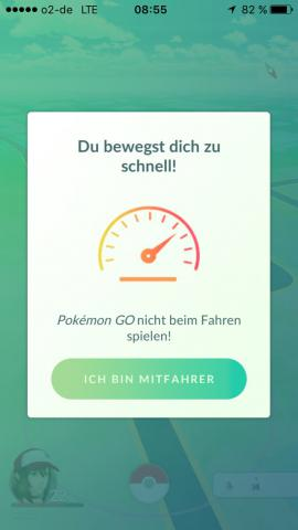 Pokemon Go Warnung Entfernen