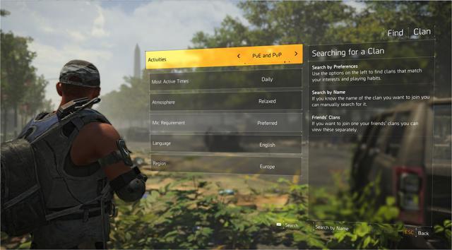 The Division 2 Ubisoft Erklart Das Clan System