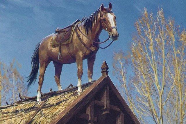The Witcher Pferd