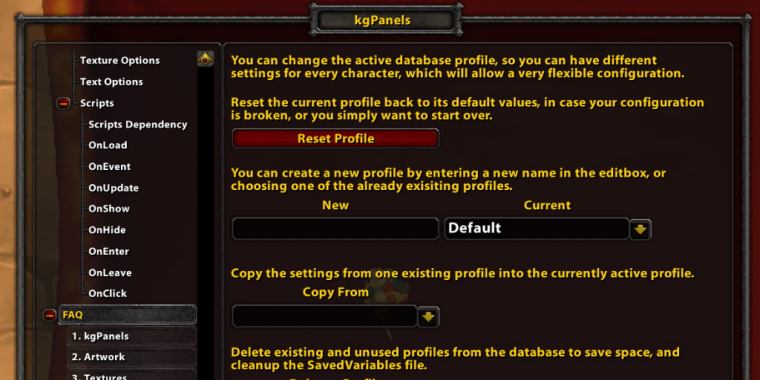 WoW-Addon: kgPanels (1)