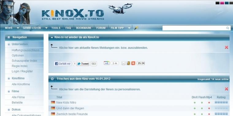 Kinox.To News