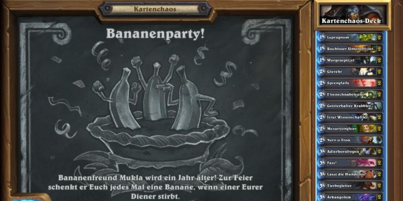 Die Bananenparty in Hearthstone
