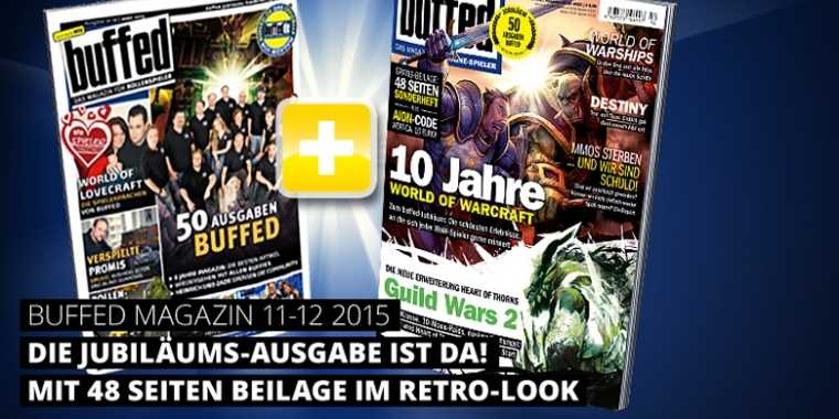 buffed-Magazin: Ausgabe 11-12/2015 - 50. Ausgabe mit WoW, Guild Wars 2, Destiny, World of Warships und mehr!