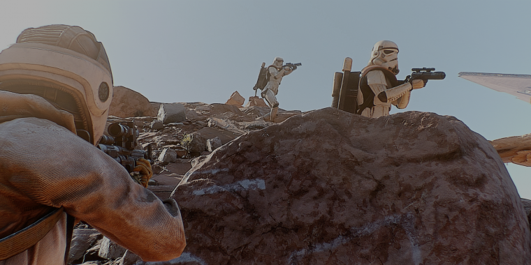 Star Wars: Battlefront - Fotorealistische Grafik, dank Toddyhancer-Modifikation.