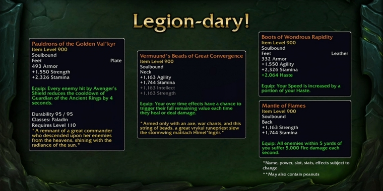 World of Warcraft: Legendaries
