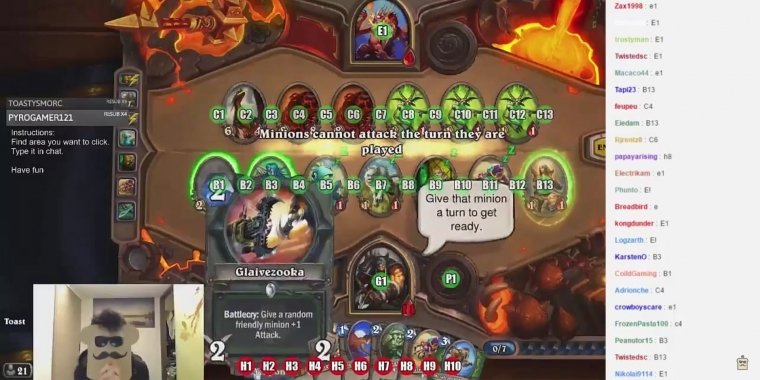 Twitch Plays Hearthstone