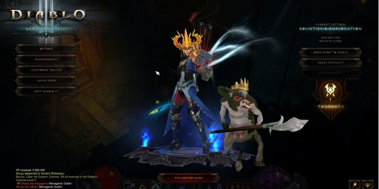 Diablo 3 PTR-Patch 2.4.1 - Neue Pets: Cow King