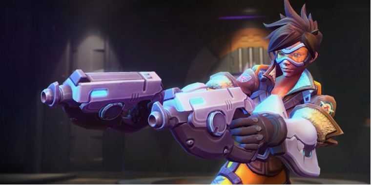 Heroes of the Storm: Overwatch-Heldin Tracer