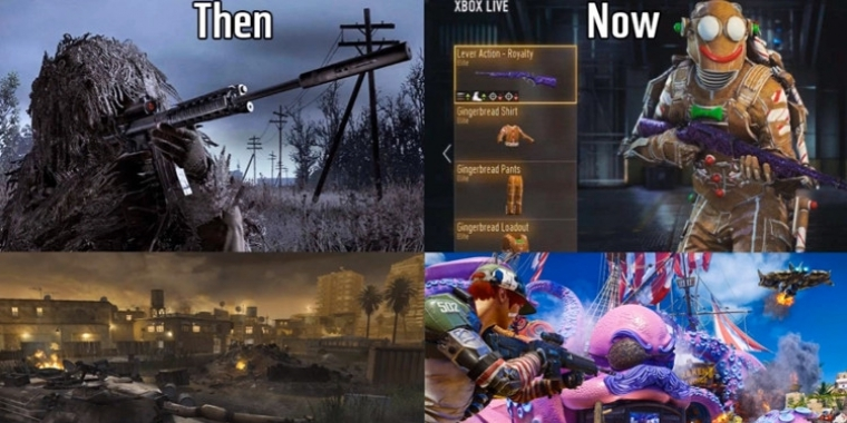Call of Duty Then vs Now