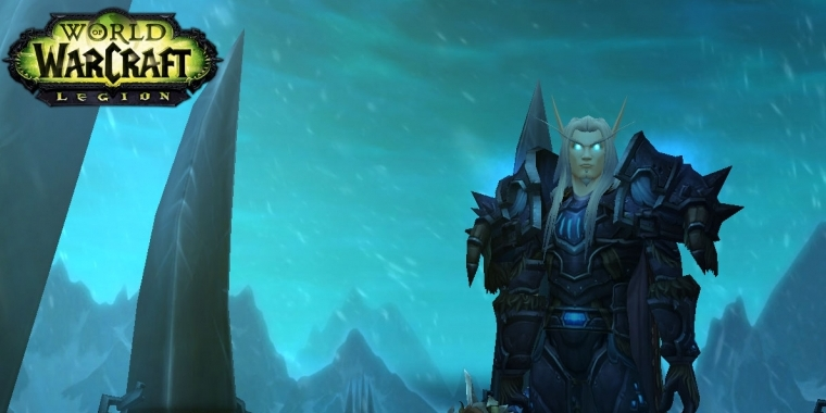 Todesritter-Startbildschirm in World of Warcraft Legion