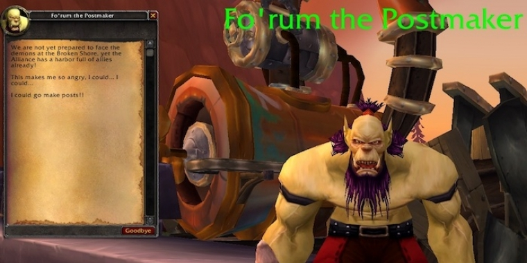 WoW Legion: Fo'rum the Postmaker