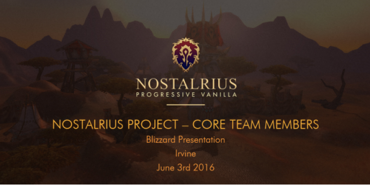 "WoW: ""Blizzard will Classic-Server"" - Nostalrius-Team veröffentlicht Meeting-Report (1)"