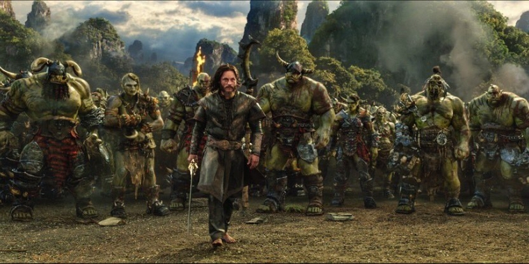 Warcraft The Beginning: Anduin mit Orcs
