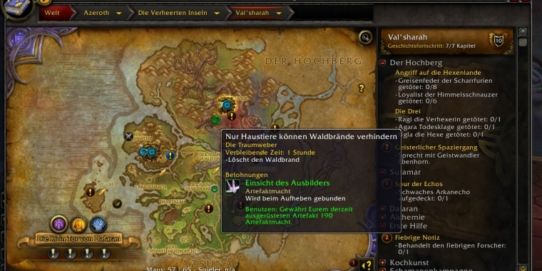Weltquests in Val'sharah in WoW: Legion
