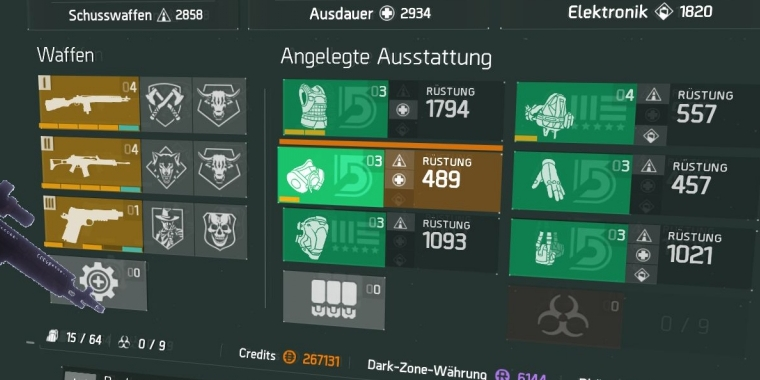 Das Rückholer-Set in The Division