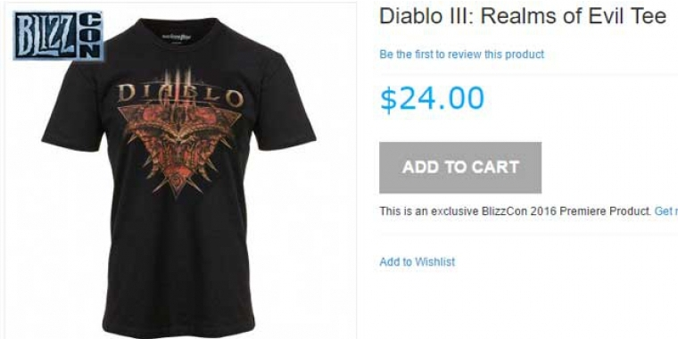 "Blizzcon 2016: Diablo T-Shirt ""Realms of Evil"""