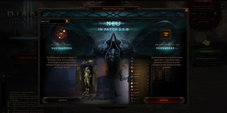 Diablo 3: Patch 2 5 0 PTR Update - Patch Notes vom 16