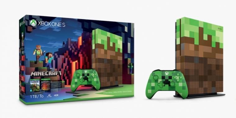 Minecraft Neue Xbox One S Erscheint Im Besonderen PixelKlötzchen - Minecraft controller spielen pc