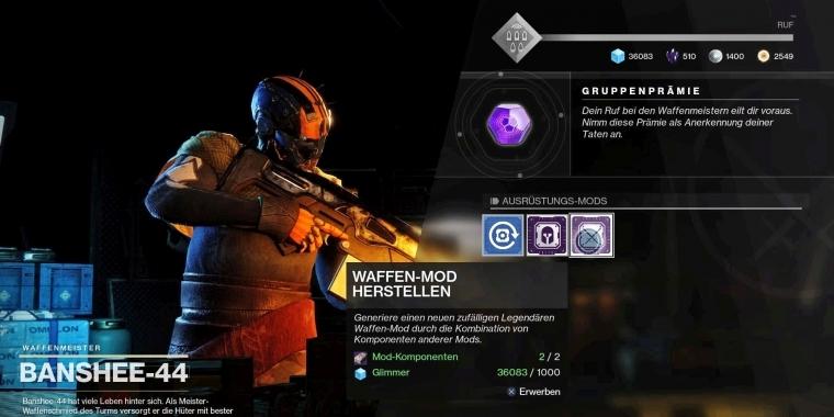 Destiny 2 Mehr Motivation Durch Meisterwerk Waffen Im Dezember Update