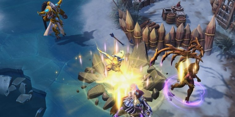 Heroes Of The Storm Warcraft Kriegerin Yrel Und Alteracpass Map